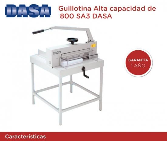 DASA  Guillotina 800 SA3 + Lus de corte - Industrial