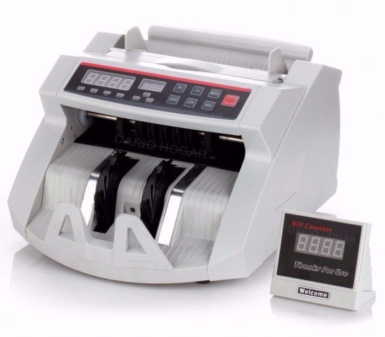 Contadora de Billetes+ Visor Extra + Detector Falsos